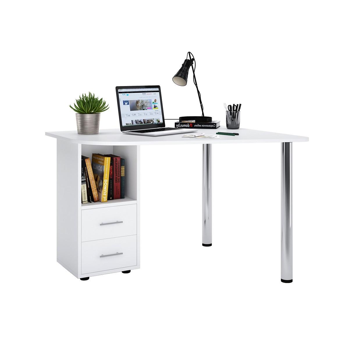 Угловой письменный стол ДОМУС Ким-1 белый