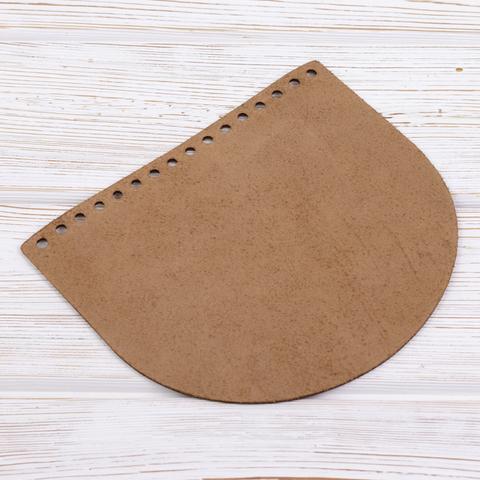 """Клапан для сумочки кожаный """"Мёд"""" 19*16 см"""