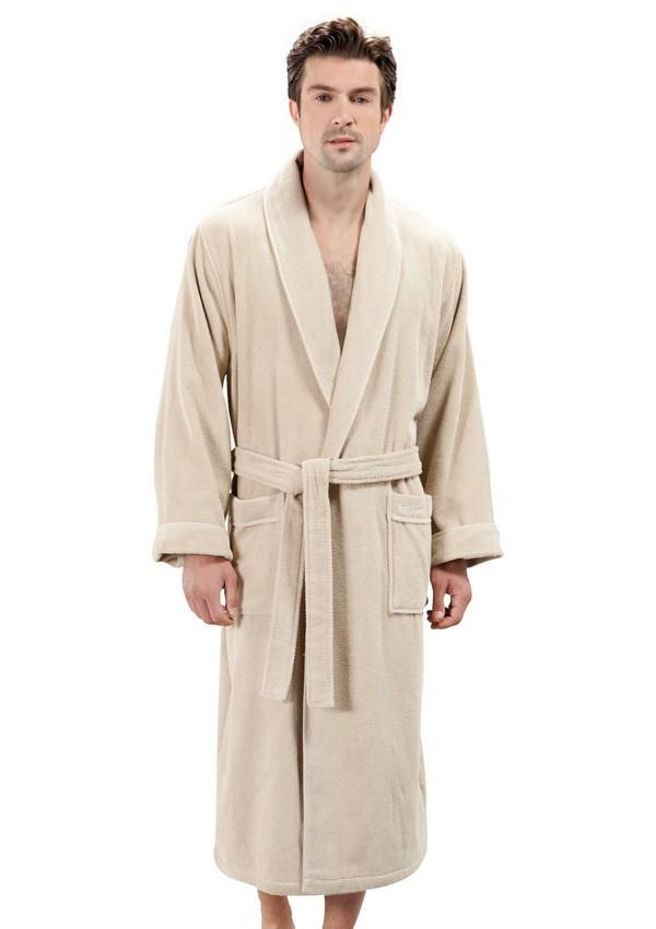 Халаты мужские LORD  ЛОРД махровый мужской халат SOFT COTTON (Турция) lord_krem.jpg