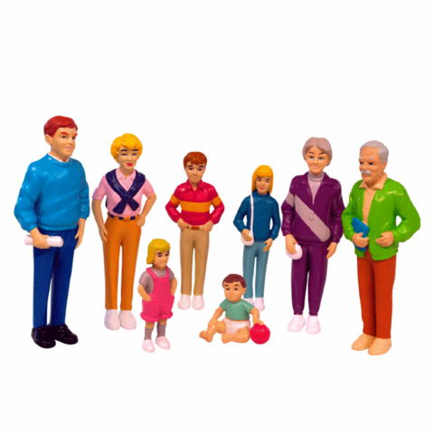 27395 Набор фигур Европейская семья Europian Family Miniland