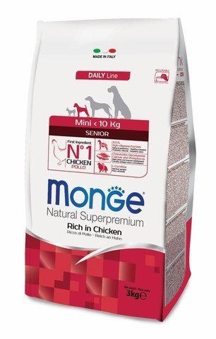 купить Monge Dog Mini корм для пожилых собак мелких пород 3 кг