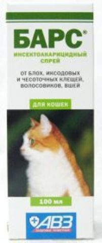 Барс Спрей инсектоакарицидный для кошек 100 мл