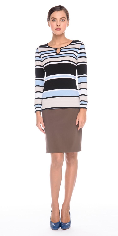 Юбка Б066-162 - Прямая классическая юбка прекрасно сочетается с любым верхом, подойдет как для офиса так и для повседневной жизни.