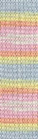 Пряжа Alize Baby Wool Batik роз-жел-голубой 3563