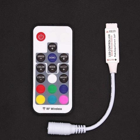 Контроллер RGB 5-24V. 288W. 12A с цветным пультом, 16 кнопок