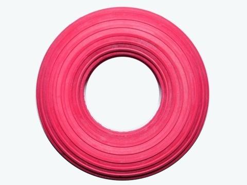 Эспандер кольцо, большой, ребристый, нагрузка 30 кг, красный :(23009RED):