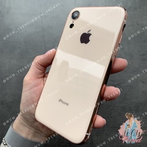 Чехол iPhone XR Glass Silicone Case Logo /rose/