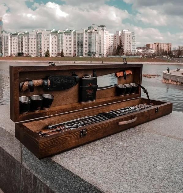 Шампуры в кейсе Набор шампуров в деревянной коробке №2 IcxHeqVfKCc.jpg