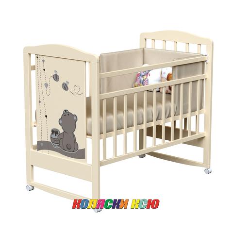 Детская кроватка колесо-качалка Camerette