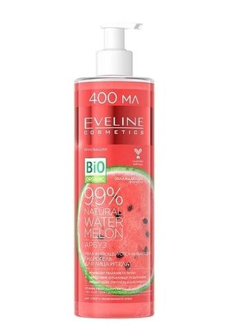 EVELINE 99% NATURAL Увлажняюще-успокаивающий гидрогель для лица и тела 3в1 400мл