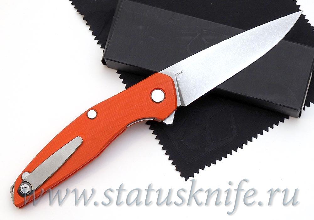 Нож Широгоров 111 G10 3D оранжевая рукоять 440С - фотография