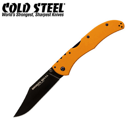 Нож Cold Steel модель 54SBOR Broken Skull 1 Orange