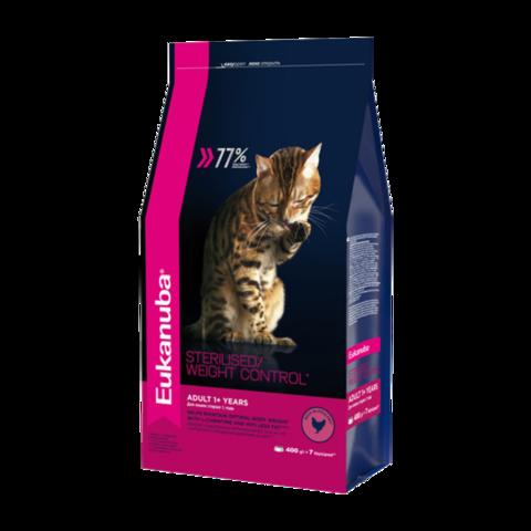 Eukanuba Adult Sterilised Weight Сontrol Сухой корм для взрослых стерилизованных кошек склонных к избыточному весу
