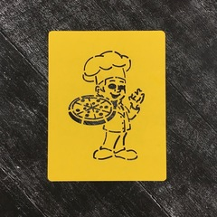 Повар №2 с пиццей