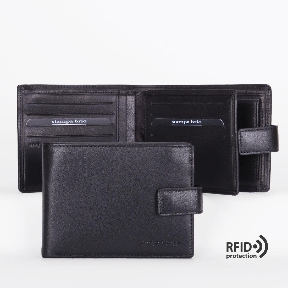 626 R - Портмоне с отделением на молнии и RFID защитой