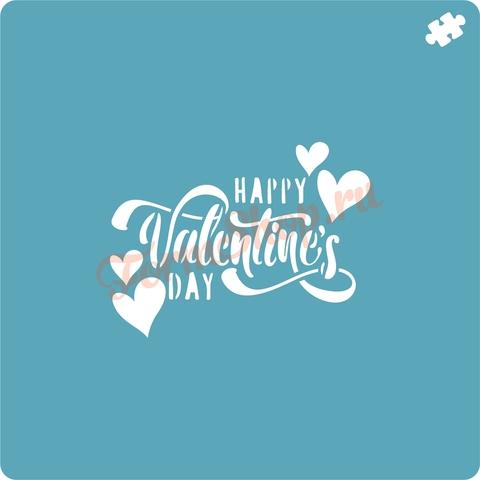 Трафарет Happy Valentines Day