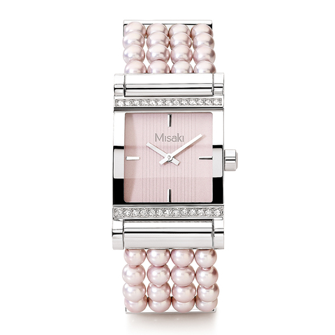 Часы наручные женские Parisienne Velour Misaki розовый жемчуг
