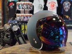 Визор бабл-bubble на мотошлем, иридиум