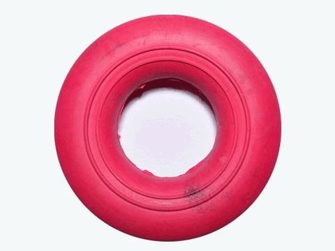 Эспандер кольцо, большой, ребристо-гладкий, нагрузка 40 кг, красный :(23045RED):