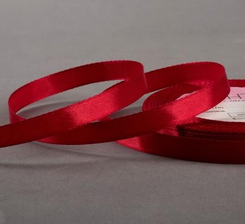 Лента атласная,10 мм*23*1м, цвет бордовый №33