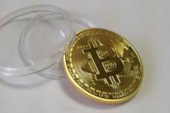 Монета Bitcoin сувенирная