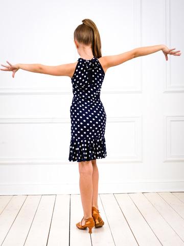 Платье для танцев с воланом