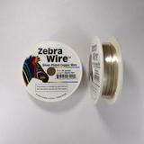 Проволока серебристая с медным сердечником Zebra Wire, 0,51 мм, посеребренная, 18 м