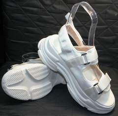 Спортивные женские босоножки Small Swan PM23-3 White.