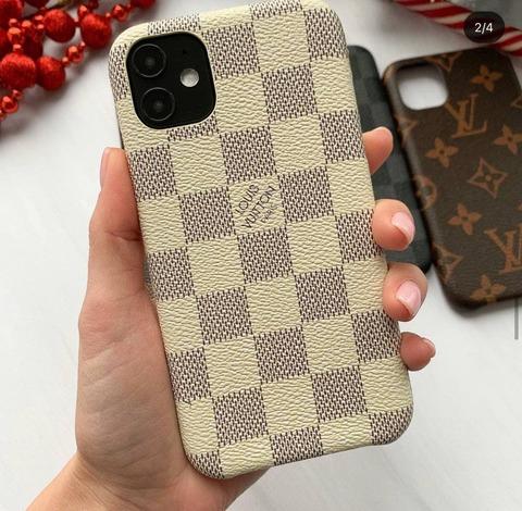 Чехол брендовый iPhone 11 Louis Vuitton Canvas /cream/