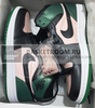 Air Jordan 1 Mid 'Black/Green/Pink' (Фото в живую)