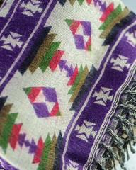 Фиолетовый мягкий шарф с добавлением шерсти яка, 100х200 см, Непал