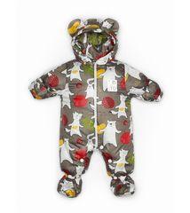 Malek baby. Комбинезон непромокаемый утепленный, Медведь и заяц на капучино