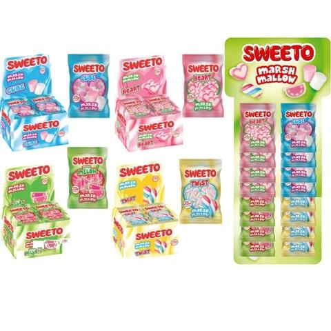 Зефир SWEETO MELLOW в пакетиках 30 гр. (СТЕНД) 1кор*4бл*12шт