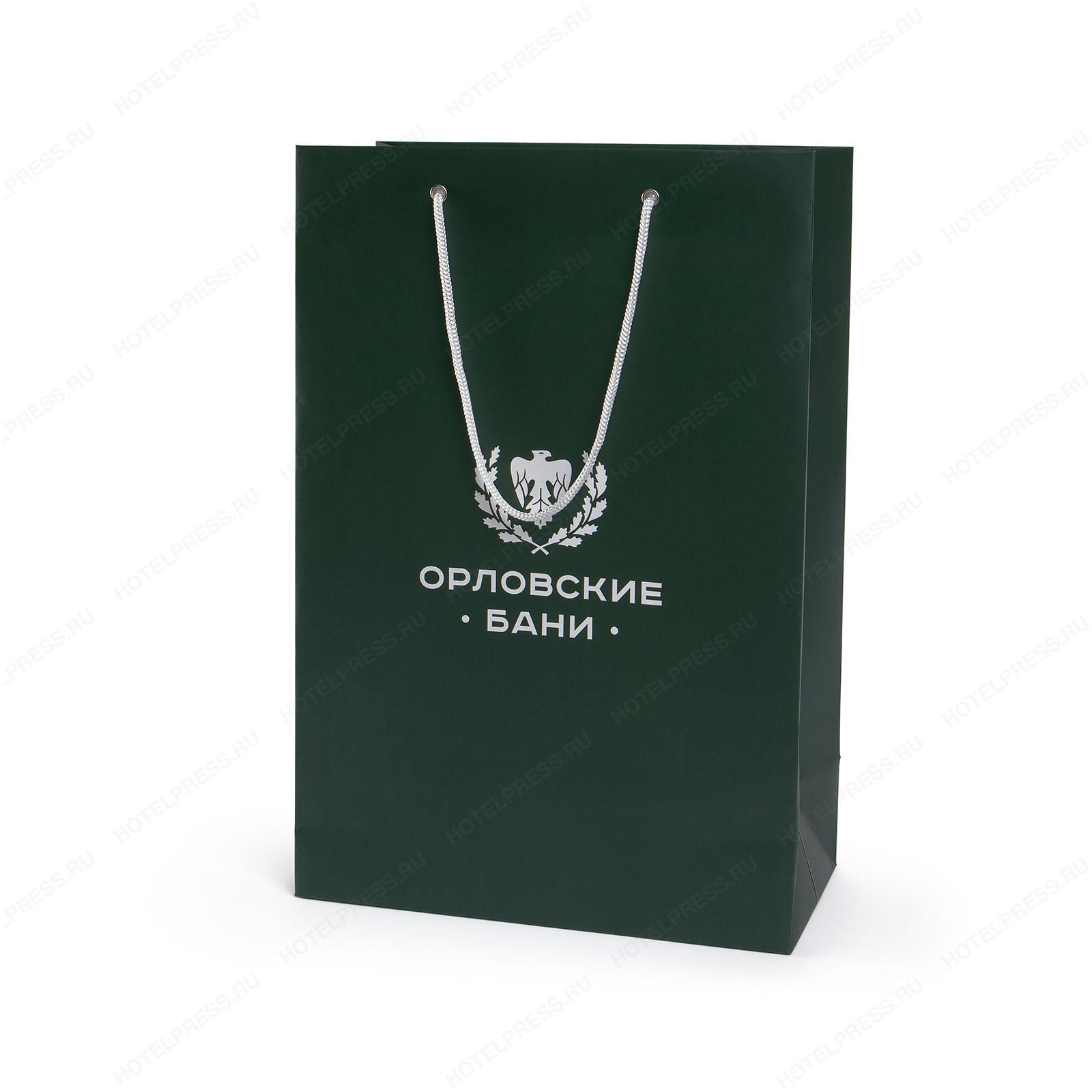 Брендированный полноцветный пакет  Орловские бани