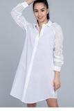 Белая рубашка-платье Twin-Set