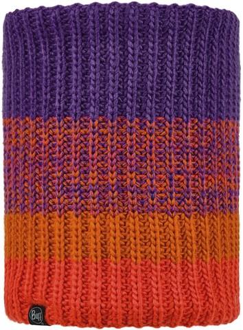 Вязаный шарф-труба с флисом детский Buff Neckwarmer Knitted Polar Sibylla Purple фото 1