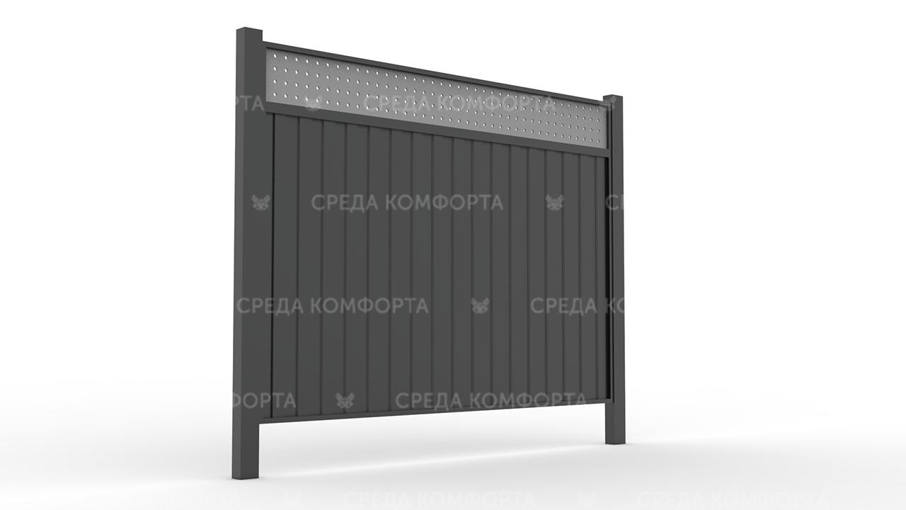 Забор из профлиста 2500х2000 мм ZBR0037 (столб для забора продается отдельно)