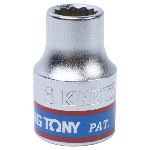 "Головка торцевая стандартная двенадцатигранная 3/8"", 8 мм KING TONY 333008M"