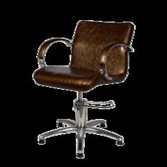 Парикмахерское кресло Лорд гидравлика хром, пятилучье хром на подпятниках