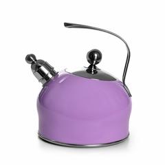 5963 FISSMAN Чайник со свистком для кипячения воды PALOMA 2,5л, цвет СИРЕНЕВЫЙ (нерж.сталь)