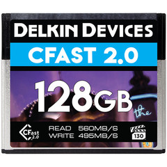 Карта памяти Delkin Devices 128GB Premium CFast 2.0 560 - 495MB/s VPG-130