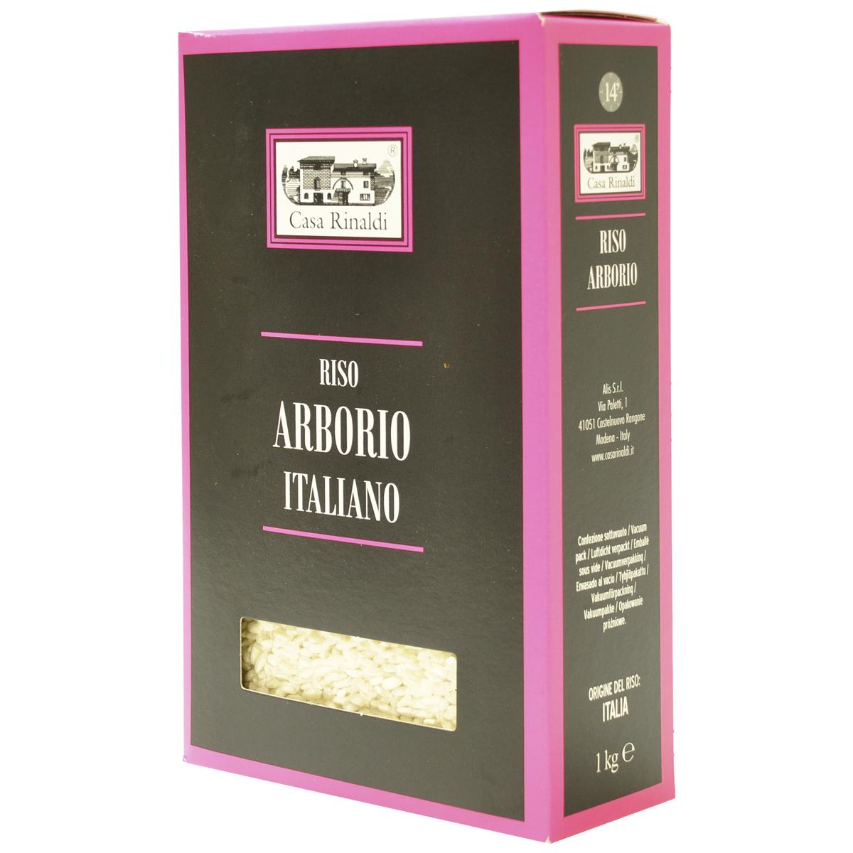 Рис Casa Rinaldi среднезёрный обрушенный не полированный Арборио 1кг