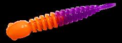 Силиконовые приманки Trout Bait Chub 65 (65 мм, цвет: Оранжево-фиолетовый, запах: сыр, банка 12 шт.)