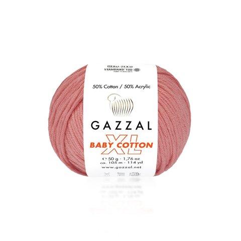 Пряжа Gazzal Baby Cotton XL 3435 пыльная роза