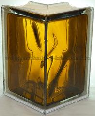 Угловой стеклоблок бронзовый окрашенный изнутри Vitrablok 19x13x13x8