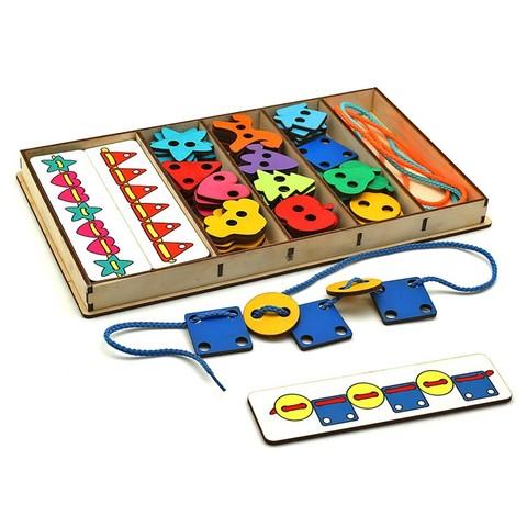 Большой шнуровальный набор (72 детали + плашки-повторяшки), Smile decor