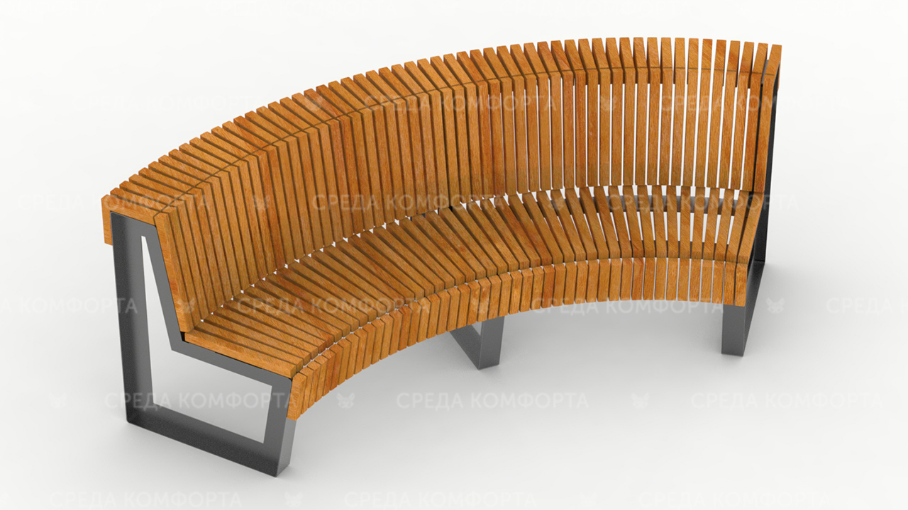 Полукруглая скамейка SCAM0049