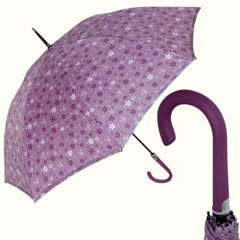Купить перламутровый сиреневый женский зонт-трость, Италия