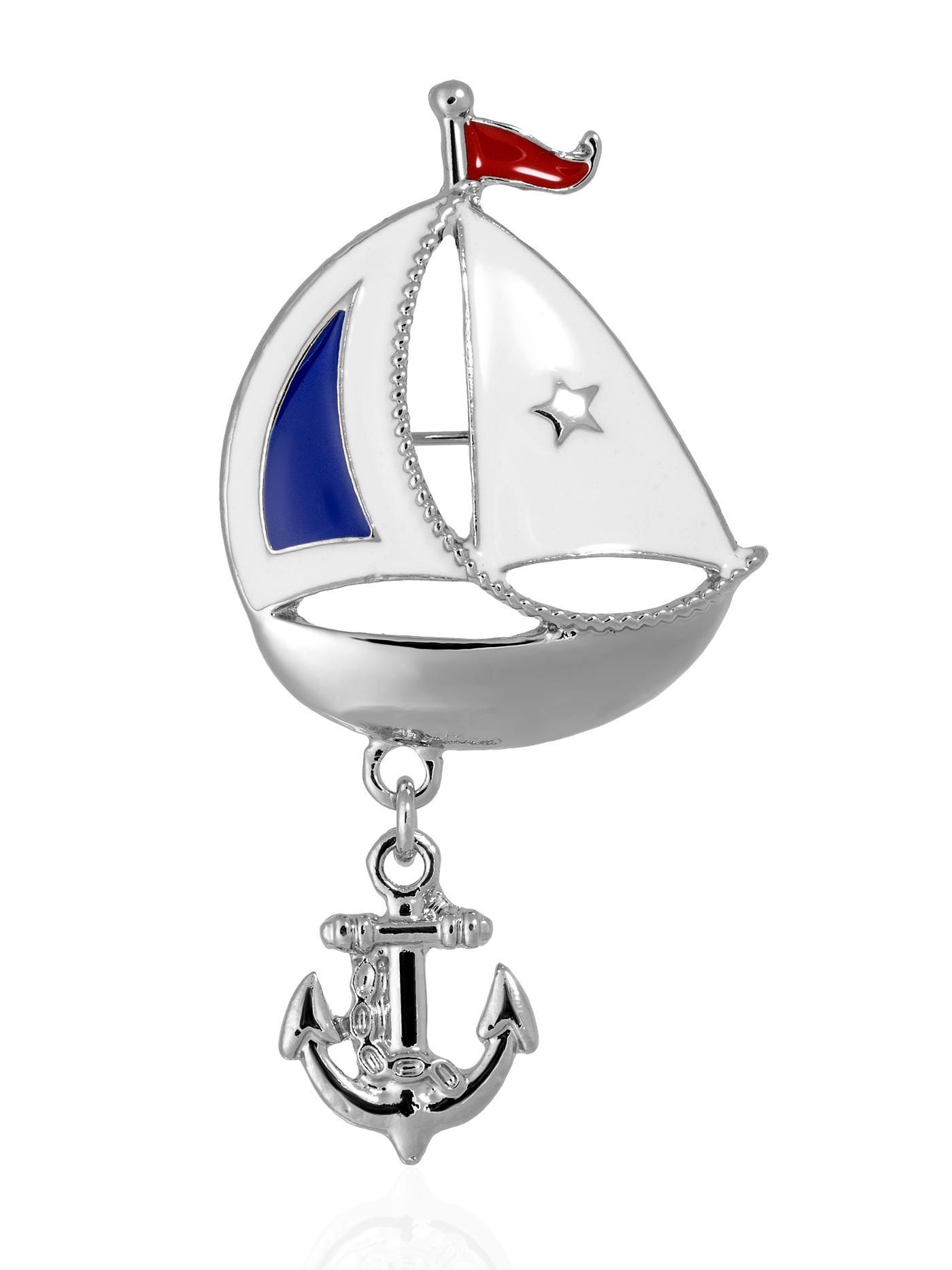 Брошь Кораблик
