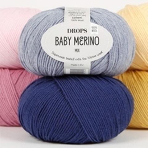 DROPS BABY MERINO (100% мериносовая шерсть, 50гр/175м)